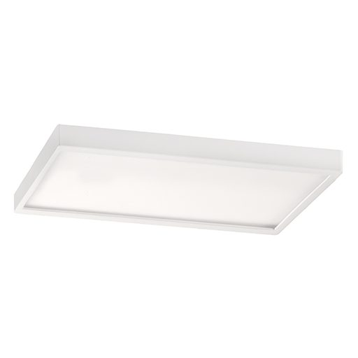 I tec plaf n led rectangular de 36w blanco 6500k for Plafon led cocina rectangular